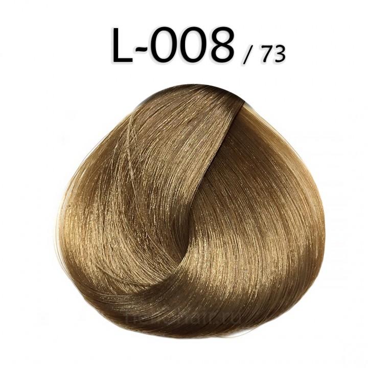 Волосы на лентах L-008/73, LIGHT GOLDEN CHESTNUT BLONDE, светло-золотистый каштановый блонд, цена за 100 грамм