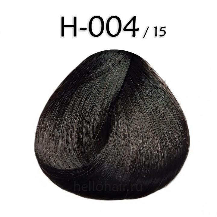 Волосы в срезах H-004/15, ASH MAHOGANY BROWN, пепельно-махагоновый коричневый, цена за 100 грамм